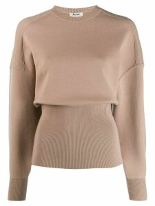 Acne Studios voluminous crew neck sweater - NEUTRALS