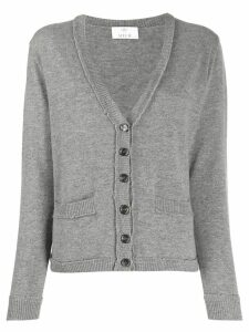 Allude V-neck knitted cardigan - Grey