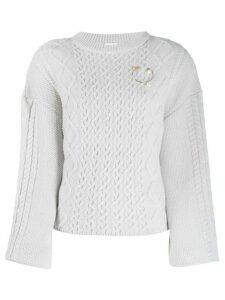 Magda Butrym chunky knit jumper - Grey