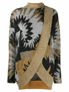 Missoni printed wrap cardigan - Grey