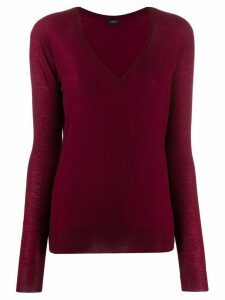 Joseph deep V-neck pullover - Red