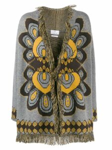 Allude fringed cardigan - Brown