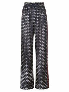 Jonathan Simkhai wide leg patterned trousers - Blue