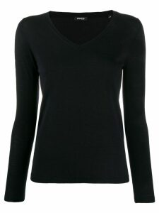 Aspesi fine knit v-neck jumper - Blue