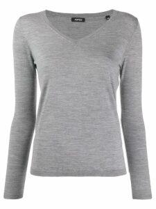 Aspesi fine knit v-neck jumper - Grey