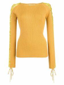 Jonathan Simkhai crochet long-sleeved jumper - Yellow