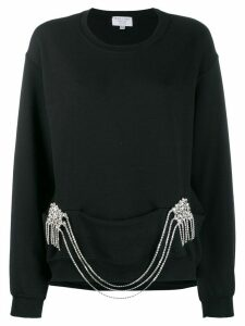 Collina Strada crystal chain jumper - Black