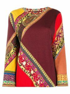 Etro Maglia knitted top - ORANGE