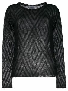 Dondup patterned fine knit top - Black