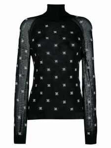 Fendi turtle neck pullover - Black