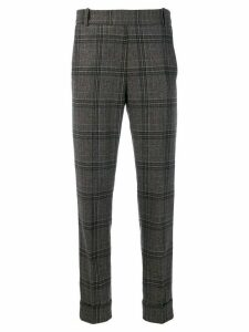 Kiltie check print trousers - Brown