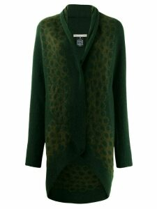 Suzusan open front draped cardigan - Green