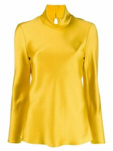 Maison Rabih Kayrouz funnel-neck fitted top - GOLD