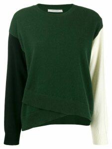 Chinti & Parker colour-block asymmetric jumper - Green