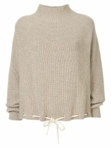 Bassike drawstring hem sweater - Brown