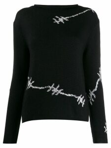 Ermanno Scervino wire patterned sweater - Black
