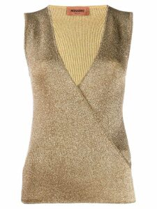 Missoni knitted vest top - GOLD