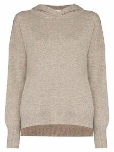 Le Kasha Riga hooded cashmere jumper - Brown