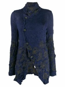 Y's off-centre button cardigan - Blue