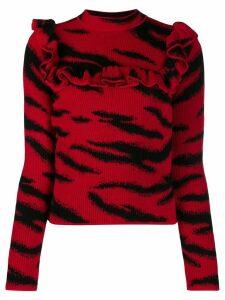 Philosophy Di Lorenzo Serafini ruffle trimmed jumper - Red