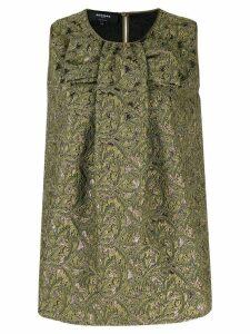 Rochas jacquard print top - Green