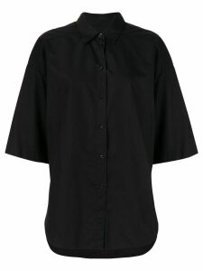 Lee Mathews oversized Carter shirt - Black