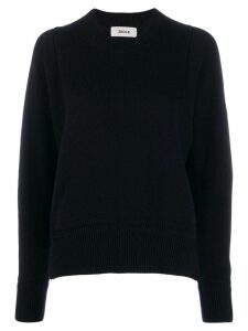 Zucca loose-fit crew neck jumper - Blue