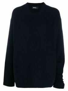 Zucca oversized crew-neck jumper - Blue