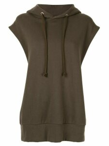 G.V.G.V. basic sleeveless hoodie - Green
