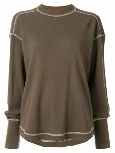 G.V.G.V. stitch detail jumper - Green