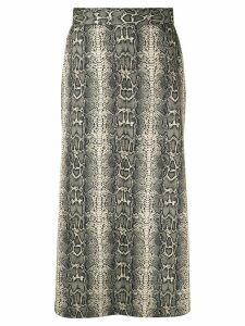 G.V.G.V. jersey flared skirt - Multicolour