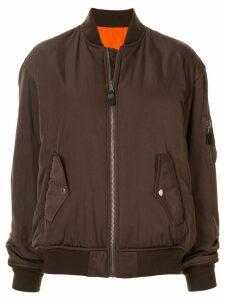 G.V.G.V. zipped-up bomber jacket - Brown
