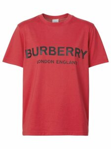 Burberry logo print t-shirt - Red