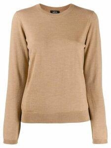 A.P.C. ribbed crew neck jumper - NEUTRALS