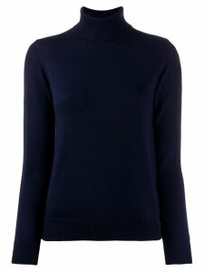 A.P.C. ribbed roll neck jumper - Black