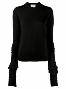 Coperni oversized sleeve jumper - Black