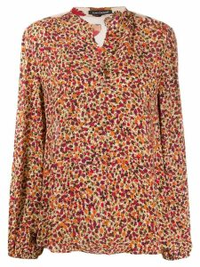 Luisa Cerano floral panelled blouse - PINK