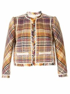 Paule Ka woven checked jacket - Multicolour