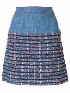 Paule Ka woven check skirt - Blue