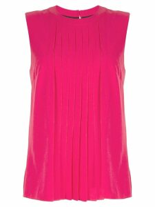 Markus Lupfer pleated sleeveless blouse - Pink