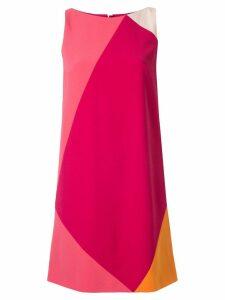 Paule Ka geometric block shift dress - Pink