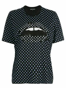 Markus Lupfer polka-dot mouth T-shirt - Blue