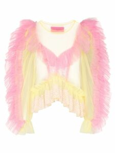 Viktor & Rolf ruffled tulle blouse - Yellow
