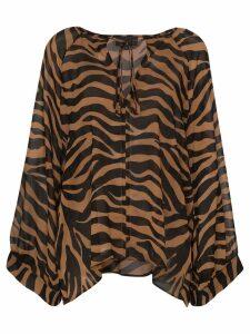 Nili Lotan Acadia tiger print blouse - Black