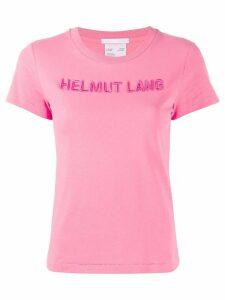 Helmut Lang embroidered logo T-shirt - PINK