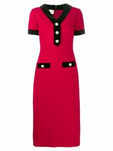 Gucci buttoned midi dress - Red