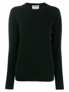 Jil Sander ribbed round neck knitted sweater - Black