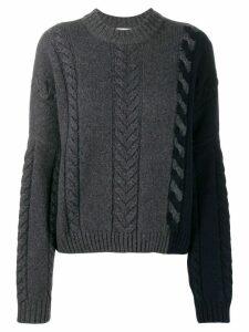 Maison Kitsuné knitted sweatshirt - Grey