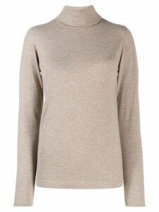 Brunello Cucinelli fine knit turtleneck jumper - NEUTRALS