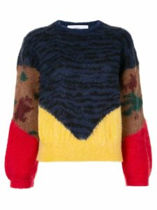 Toga animal print jumper - Blue